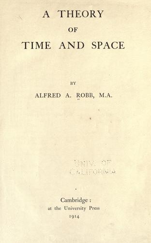 Download A theory of time and space