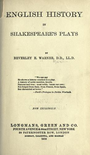 Download English history in Shakespeare's plays