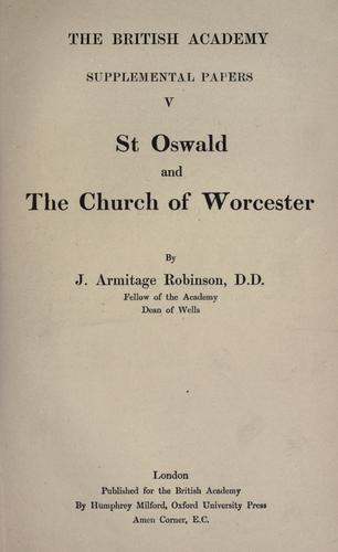 Download St. Oswald and the church of Worcester.