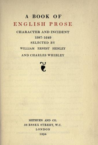 Download A book of English prose