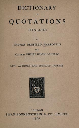Download Dictionary of quotations (Italian)