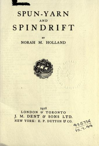 Spun-yarn and spindrift