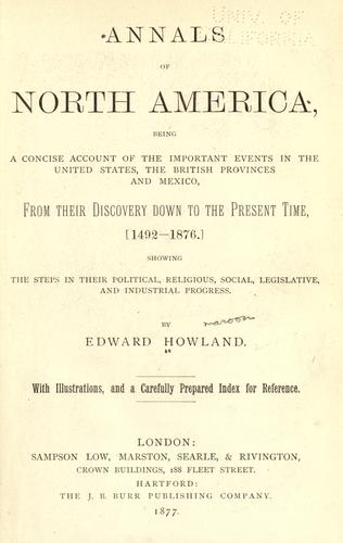 Annals of North America