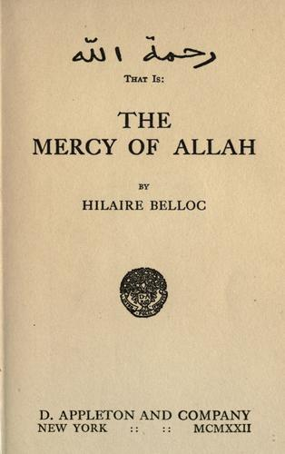 Download The  mercy of Allah