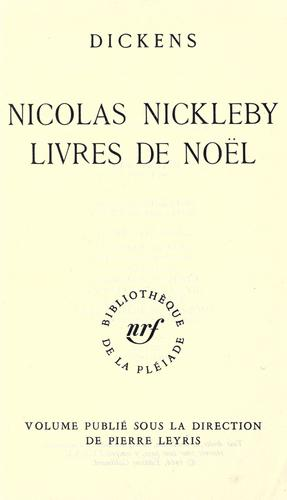 Nicolas Nickleby.