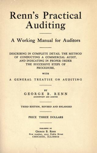 Renn's practical auditing