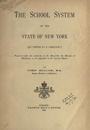 Download The school system of the State of New York (as viewed by a Canadian)