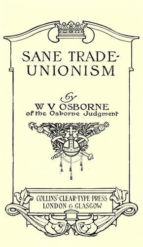 Download Sane trade-unionism