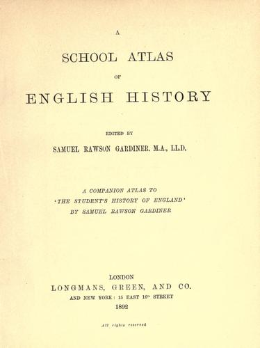 Download A school atlas of English history.