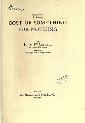 Download The cost of something for nothing.