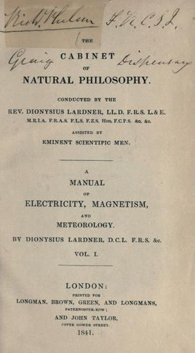 Download A  manual of electricity, magnetism and meteorology.