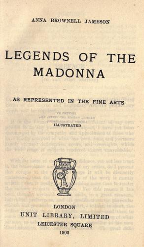 Download Legends of the Madonna as represented in the fine arts