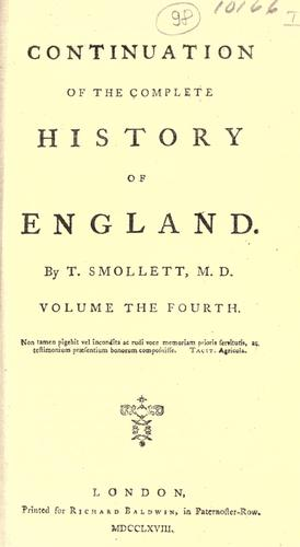 Continuation of the complete history of England.