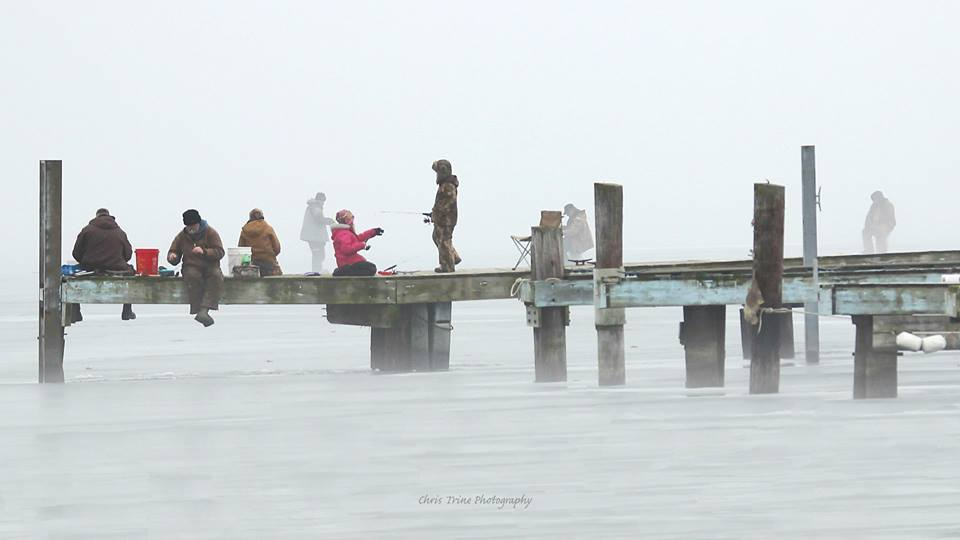 Sitting on the dock at Sodus Bay (photo)