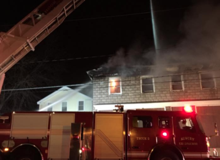 Auburn Fire Dept. remains on scene of structure fire at former corner store
