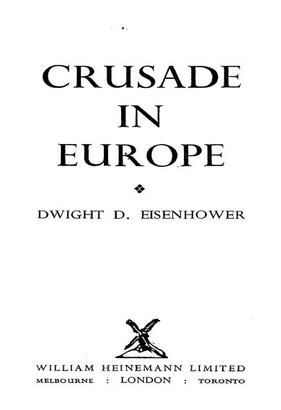 Crusade In Europe By Eisenhower Dwight D In Pdf