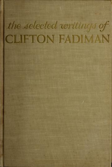 Party of one by Clifton Fadiman