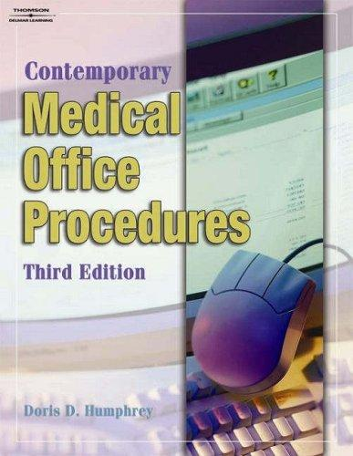 Student Workbook To Accompany Contemporary Medical Office Procedures by Doris D. Humphrey