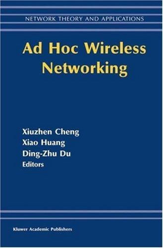 Ad hoc wireless networking by Dingzhu Du