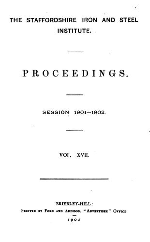 Proceedings by Staffordshire Iron and Steel Institute