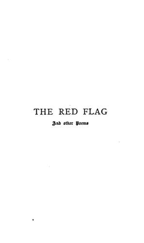 The Red Flag: & Other Poems by Roden Berkeley Wriothesley Noel