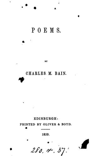 Poems by Charles M. Bain
