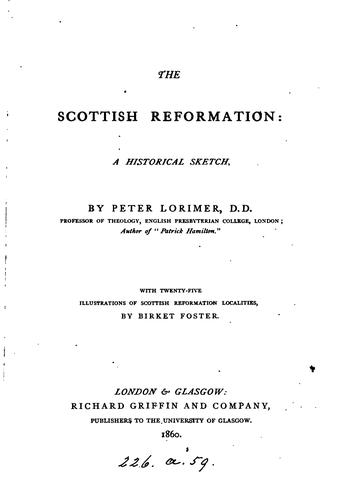The Scottish Reformation, a sketch by Peter Lorimer