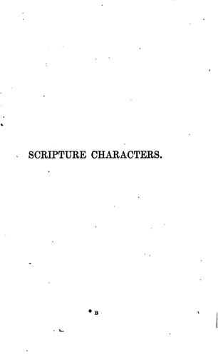 Scripture characters by William Jowett