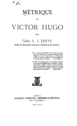 Mėtrique de Victor Hugo by A J Theys