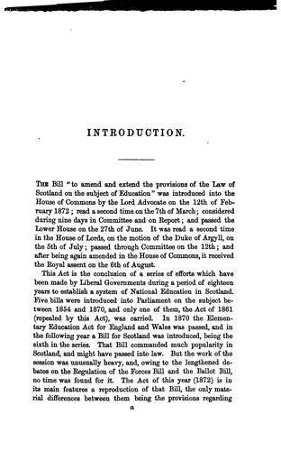 Manual of the Education Act for Scotland 35 & 36 Vict., Chap. 62 1872 by Alexander Craig Sellar