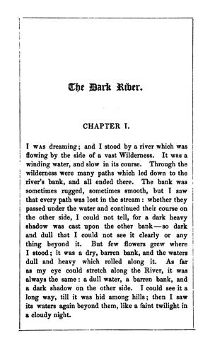 The dark river: an allegory by Edward Monro