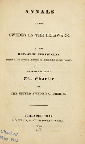 Annals of the Swedes on the Delaware