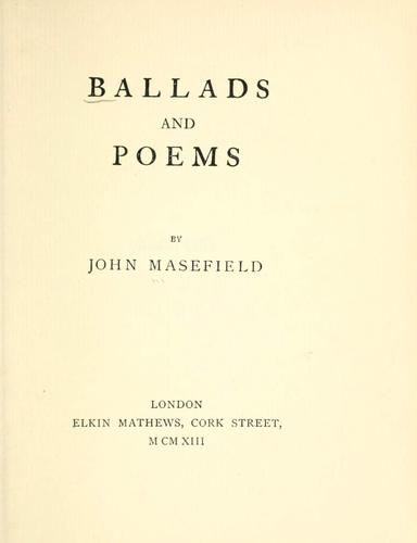 Ballads and poems.