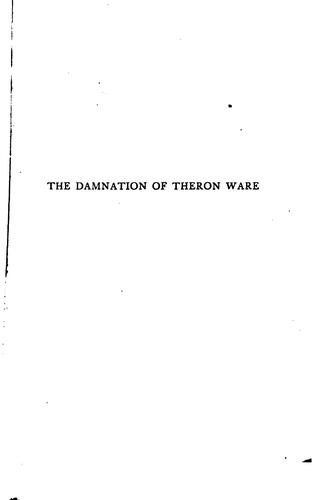 The Damnation of Theron Ware, Or, Illumination by Harold Frederic