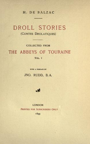 Droll Stories by Honoré de Balzac