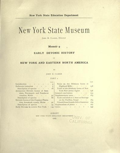 Early Devonic history of New York and eastern North America