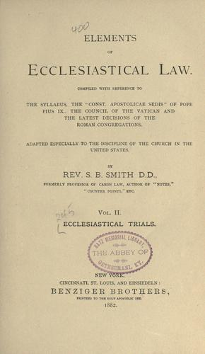 Ecclesiastical trials by S. B. Smith