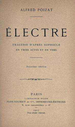Electre by Sophocles