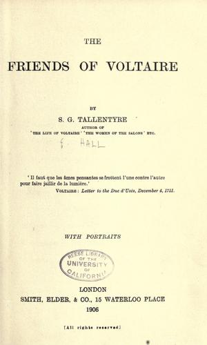The friends of Voltaire by Evelyn Beatrice Hall