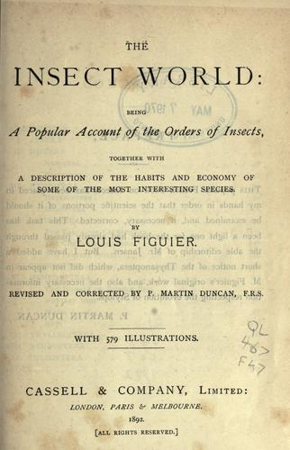 The insect world by Louis Figuier
