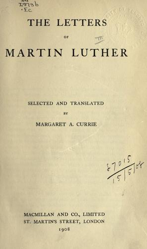 Letters by Martin Luther