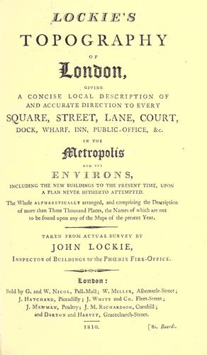 Lockie's Topography of London by John Lockie