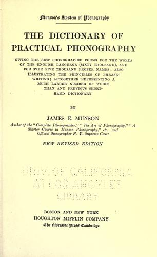 Munson's system of phonography by James Eugene Munson