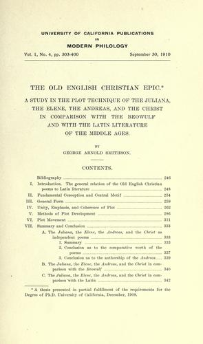 The Old English Christian epic