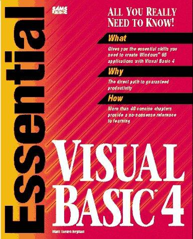 Essential Visual Basic 4 by Mark Steven Heyman