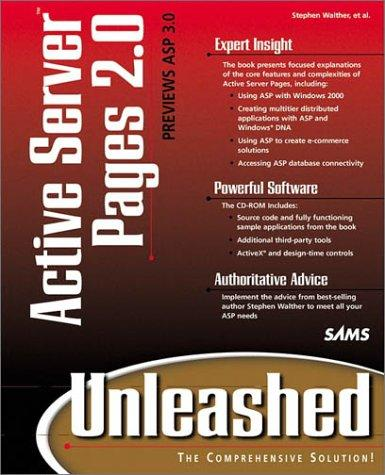 Active Server Pages 2.0 unleashed by Stephen Walther, Steve Banick
