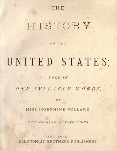 The history of the United States