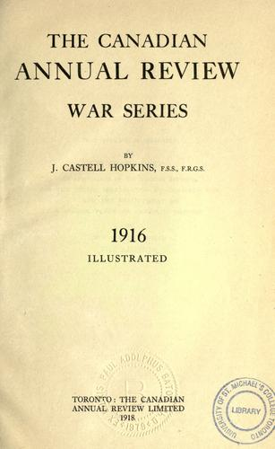 The Canadian annual review war series