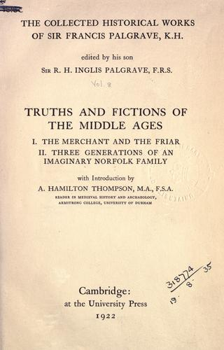 Collected historical works by Palgrave, Francis Sir