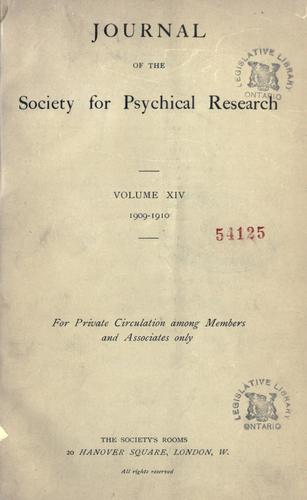Journal of the Society for Psychical Research.